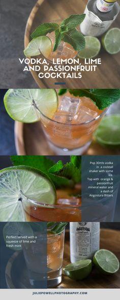 Fresh Lime, Lemon Lime, Passionfruit Cocktail, Cocktail Shaker Recipes, Vodka Cocktails, Drinks, Cafe Shop, Mineral Water, Smirnoff