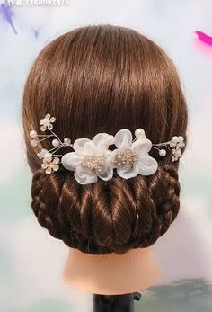 So easy and beautiful! You should definitely give them a try Trendfrisuren Joe, akkurater Easy Hairstyles For Long Hair, Girl Hairstyles, Braided Hairstyles, Wedding Hairstyles, Hairstyle Ideas, Easy Elegant Hairstyles, Party Hairstyles, Headband Hairstyles, Curly Hair Styles