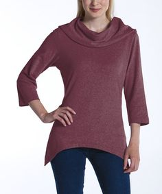 Take a look at this Merlot Lagoon Sidetail Top by lur® on #zulily today! $25 !!