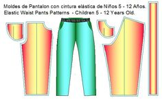 moldes de pantalon con pretina de elastico Shirtdress, Dress Pants, Girls Dresses, Dress Patterns, Sewing Patterns, Toddler Cowl, 12 Year Old
