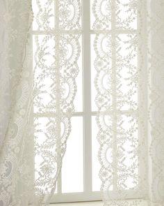 "Each 52""W x 108""L Lace Curtain"