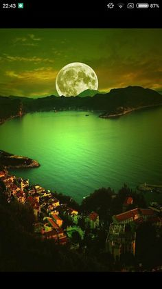 Moon madness colored green and the lake of dreams. Color Of The Wind.