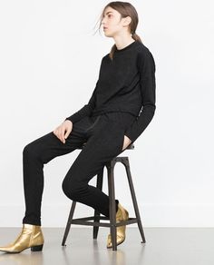 Image 3 of JACQUARD JOGGING TROUSERS from Zara