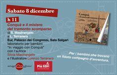 """Roma #piulibri2012 laboratorio per bambini dai 4 ai 10 anni: """"In viaggio con Conquà""""... alla ricerca del tramonto scomparso!"""