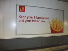 McDonalds Marketing at its Best - Must be hard to be on the advertising team for an international brand of fast-food, huh.
