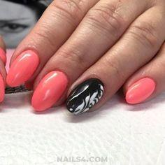 Easy And Beautiful Vacation Nail Designs / Classic And Simple Nails Design Simple Nail Designs, Nail Art Designs, Nails Design, Ice Cream Design, Vacation Nails, Get Nails, Fashion Art, Fashion Ideas, Perfect Nails