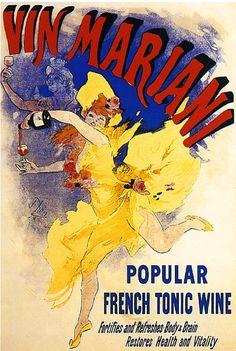 Vin Mariani Tonic Wine Advertisement Art Poster Print