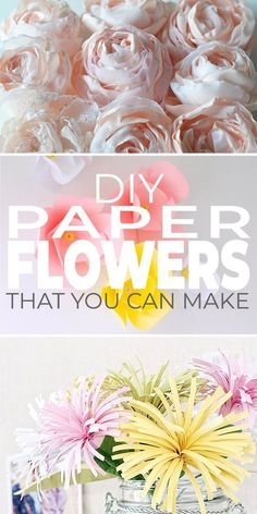 These aren't your typical tissue paper flowers! These DIY paper flowers are elegant, beautiful and yet still so creative! #paperflowers #diypaperflowers #diy&crafts #craftflowers #diyhomedecor #diyhomedecorideas #paperweddingflowers #howtomakepaperflowers #TBD How To Make Paper Flowers, Tissue Paper Flowers, Paper Roses, Mason Jar Crafts, Mason Jar Diy, Crafts For Teens To Make, Diy And Crafts, Upcycled Crafts, Handmade Flowers