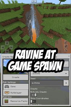 Ravine Seed for Minecraft (formerly known as Minecraft PE ;) ): Seed: exitnine