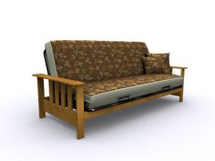The Mead Convertible Wood Futon Chair, Medium Oak by American Furniture Alliance. $199.26. Easy sofa to sleeper conversion. Wide, flat armrest. Easy to assemble. Timeless light and airy arm design. Attractive oak wood-grain. Oak is renowned for its beautiful wood grain and its durable strength.  You will find these traits in our exclusive Medium Oak Collection.  Discover our Mead futon frame convertible in our medium oak finish: which masterfully enhances the ...