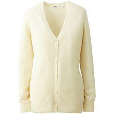 Women Cashmere V Neck Cardigan (Long Sleeve) ($110) ❤ liked on Polyvore