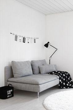 Simple 2 seat sofa for a minimalist living room. #interiordesign