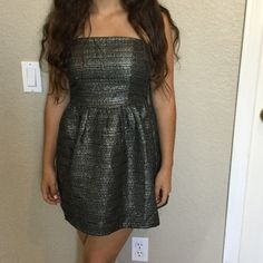 Perfect sparkly black dress New with tags short strapless dress.  Perfect for promotion/graduation parties. Dresses Mini