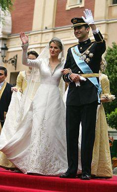 Wedding of Don Felipe, Prince of Asturias and Letizia Ortiz Rocasolano on 22 May 2004. Boda de Don Felipe, Príncipe de Asturias y Letizia Ortiz Rocasolano el 22 de mayo de 2004.