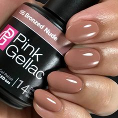 Pink Gellac 195 Bronzed Nude SoakOff UV LED Gel Polish 05 fl oz >>> You can get additional details at the image link. (This is an affiliate link and I receive a commission for the sales) Sns Nails Colors, Color For Nails, Gel Nail Polish Colors, Gelish Colours, Fake Nails For Kids, Sparkly Acrylic Nails, Uv Gel Nagellack, Pink Manicure, Shellac Nails