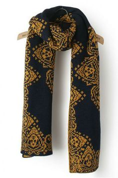 Beautiful print navy scarf.