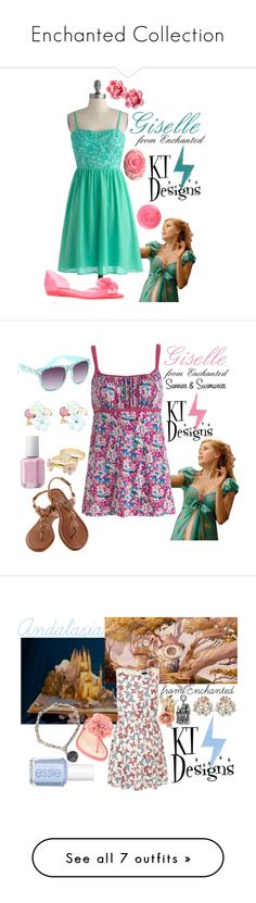"""""""Enchanted Collection"""" by ktdesigns-1 ❤ liked on Polyvore featuring My Little Thing, Mel by Melissa, Full Tilt, Essie, Candie's, Accessorize, Nine West, Jack Wills, Disney and Forever 21"""
