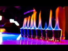 How to make Flaming Sambuca Shots Shooters Cocktails - What IT IZ Flaming Cocktails, Flaming Shots, Cocktail Shots, Craft Cocktails, Party Drinks, Vodka, Liquor Shots, Bar Shots, Recipes