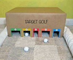 Target golf cardbox
