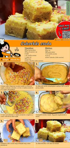 Fancy a lot of sugar sprinkles? Taste this candy wonder! The candy miracle recipe video is easy to find using the QR code 🙂# Sweets miracle Single Serve Desserts, Easy Desserts, Creme Brulee Cheesecake Bars, Taste Restaurant, Brulee Recipe, Layer Cake Recipes, Hungarian Recipes, Food Videos, Food And Drink