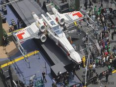 giant legos | Giant Lego Star Wars X-wing unveiled