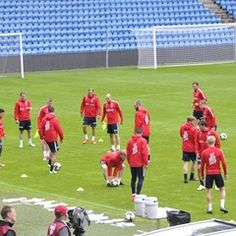 Norwegian players train ahead of 2018 FIFA World Cup qualifier with Czech Republic