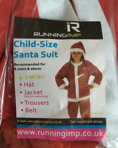 I'm just posting this so you can all laugh at me. This is the Santa Suit I've been allocated for next month's Santa Dash 5k race. I'm 41. #Santa #santasuit #santadash #running #race #5k #glasgow #thisgirlcan #thisgirlisthesizeofachild