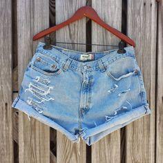 PLUS SIZE High Waisted Denim Shorts  LEVI'S by TomieHarleneVintage, $20.99