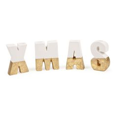 XMAS Text Candelabra (Set of 4) - Decoration - Collection - Christmas | Zara Home United Kingdom