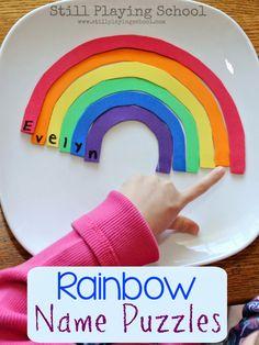 Rainbow Activities, Rainbow Crafts, Spring Activities, Alphabet Activities, Literacy Activities, Color Activities, Creative Activities, Educational Activities, Preschool Names