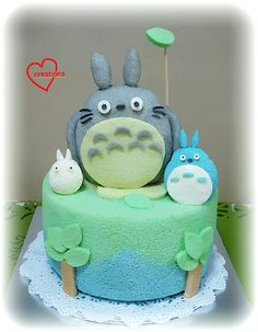 Loving Creations for You: Totoro and friends Chiffon Cake!