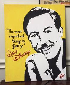 Walt Disney Pop Art Painting by ThatsHighlyOffensive on Etsy https://www.etsy.com/listing/229501437/walt-disney-pop-art-painting