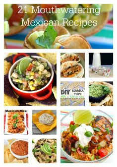 A collection of 21 recipes perfect for Cinco de Mayo or any other excuse for eating amazing Mexican food! Authentic recipes, Tex-Mex and Southwestern recipes