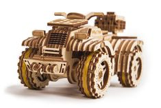 Wood Trick ATV Quad Bike Toy Mechanical Wooden Model Kit for Adults and Kids to Build - - Wooden Puzzle - STEM Toys for Boys and Girls Model Kits For Adults, Kits For Kids, 3d Puzzel, Wooden Model Kits, Making Wooden Toys, Quad Bike, Atv Quad, 3d Laser, Puzzles For Kids
