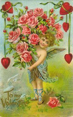Винтажные открытки к Дню святого Валентина часть третья