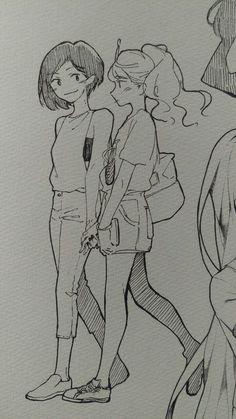 Imagem de bubblegum, marceline, and princess Art Drawings Sketches, Cute Drawings, Marceline And Bubblegum, Kunstjournal Inspiration, Arte Sketchbook, Drawn Art, Lesbian Art, Cute Art Styles, Art Anime