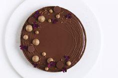 chokoladetærte hasselnød