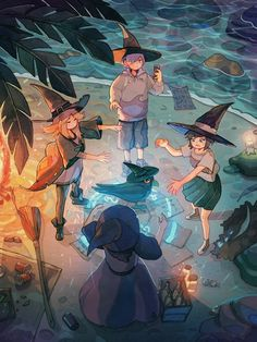 Bonfire by Simone Ferriero - Your Daily Dose of Amazing beautiful Creativity and Digital Art - Fantasy Characters: Archers Assassins Astronauts Boners Knights Lovers Mythology Nobles Scholars Soldiers Warriors Witches Wizards Fantasy Character Design, Character Drawing, Character Design Inspiration, Pretty Art, Cute Art, Witch Characters, Fantasy Characters, Witch Drawing, Anime Witch