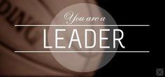 What is a leader?  Every one of us is a leader... Whether we lead a company a team of people a group of friends our families or just ourselves we are all leaders in some form...   Whatever size our circle of influence may be today if we work to improve as leaders that circle of influence will enlarge.  There are few things to take into consideration: - True leaders know who they are and what they stand for. - Integrity is the very core of their influence.  - They communicate openly and…