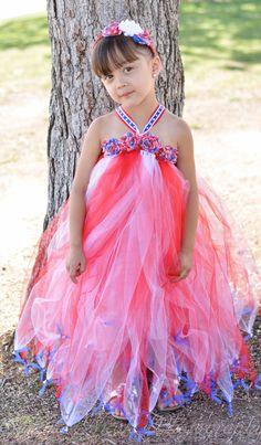 4th of July tutu dress newborn to 18month by AuskesTooCuteTutus, $20.00