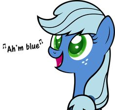 I Have a Pony and She is Blue