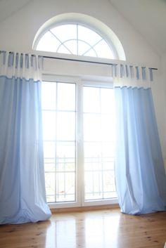 Gardinen & Vorhänge - Vorhang, Karo blau/Punkte rosa ca. 140 x 250 ...