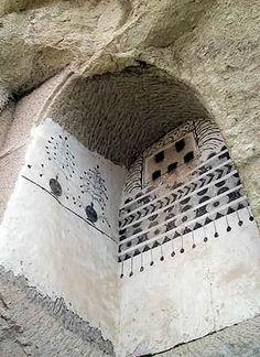 Cave church changed into a dove cote, Cappadocia.