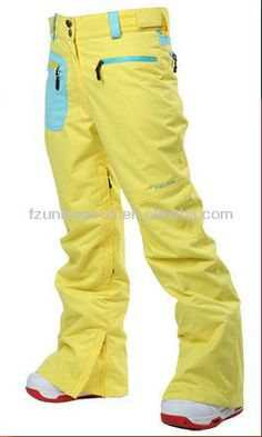 Wholesale adult waterproof pants ladies yellow snow pants $10~$25