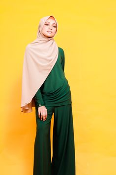 A staple outfit for that dress down day and STILL look elegant! Model is wearing our Palazzo Pants and Drape Top, Size S. Muslim Fashion, Modest Fashion, Hijab Fashion, Dress Down Day, Clothing Staples, Modest Wear, Palazzo Pants, Elegant, Stylish
