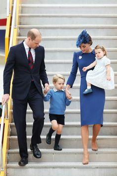Cambridge family arriving Canada