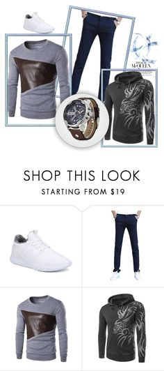 """Rosegal - 71/1"" by thefashion007 ❤ liked on Polyvore featuring men's fashion and menswear"