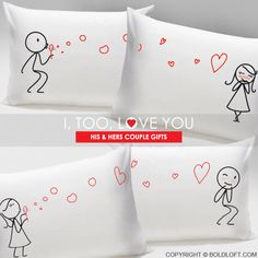 boldloft his and hers matching gifts for couples available in couple pillowcases and his hers mugs send these couple gifts for valentines day