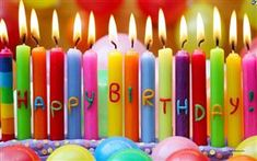 Happy Birthday with colorful candles. | Happy Birthday Images & Pictures. PlusQuotes