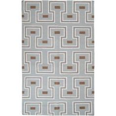 @Overstock - Hand woven in wool, this fug features a flat pile. Colors of pale blue, white, gray, and brown accent this area rug.http://www.overstock.com/Home-Garden/Hand-woven-Broughton-Wool-Rug-8-x-11/6348738/product.html?CID=214117 $362.99